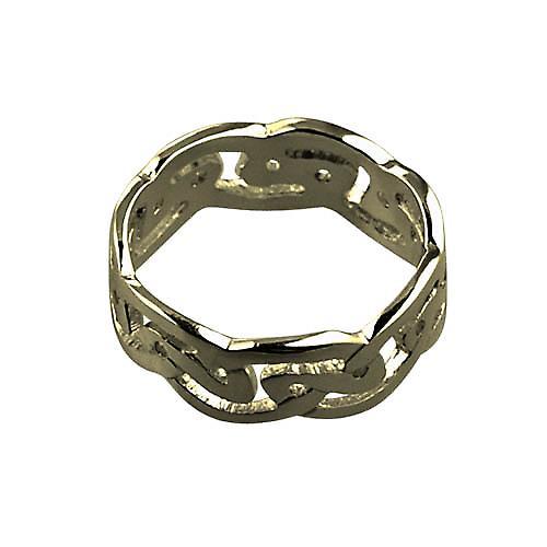 9ct or messieurs 8mm anneau de mariage celtique