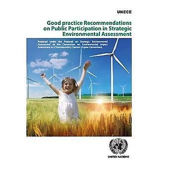 Aanbevelingen voor goede praktijken over de publieke inspraak in strategische milieubeoordeling: voorbereid krachtens het Protocol betreffende strategische milieueffectrapportage bij het Verdrag inzake milieueffectrapportage in grensoverschrijdend verband (Espoo Conve