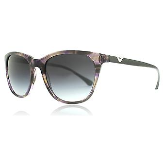 Emporio Armani EA4086 55528G Acquerello Violet EA4086 Round Sunglasses Lens Category 3 Size 54mm