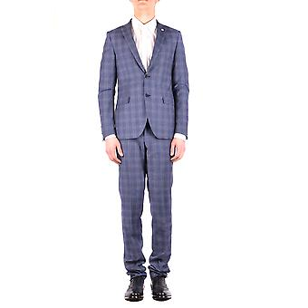 Manuel Ritz Blue Wool Suit