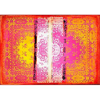 Rugs -Mineheart - Kashan Remix Landscape Rug in Orange & Pink