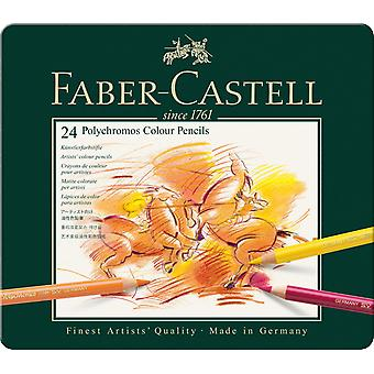 Faber-Castell Polychromos Colour Pencil 24 Tin