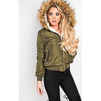 IKRUSH Womens Melica Faux Fur Parka Jacket
