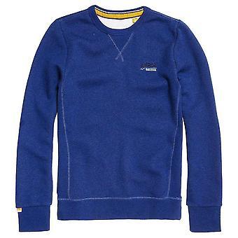 Superdry oranje Label Crew Sweatshirt Sonic Grindle