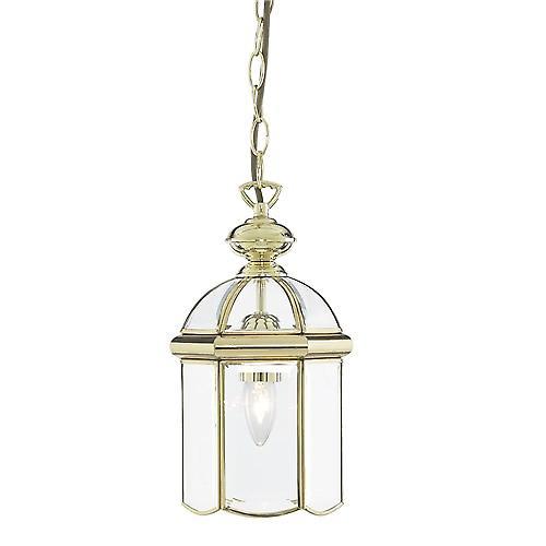 Searchlight 5131PB Lanterns Bevelled Glass Domed Polished Brass 1 Light