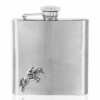 COUNTRY LIVING 6oz EQUESTRIAN FLASK - CS234