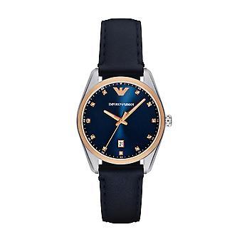 Emporio Armani Ar6124 Navy Blue Sunray dial reloj de damas
