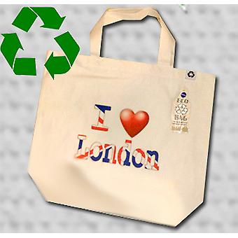I love london tote bag eco recycled