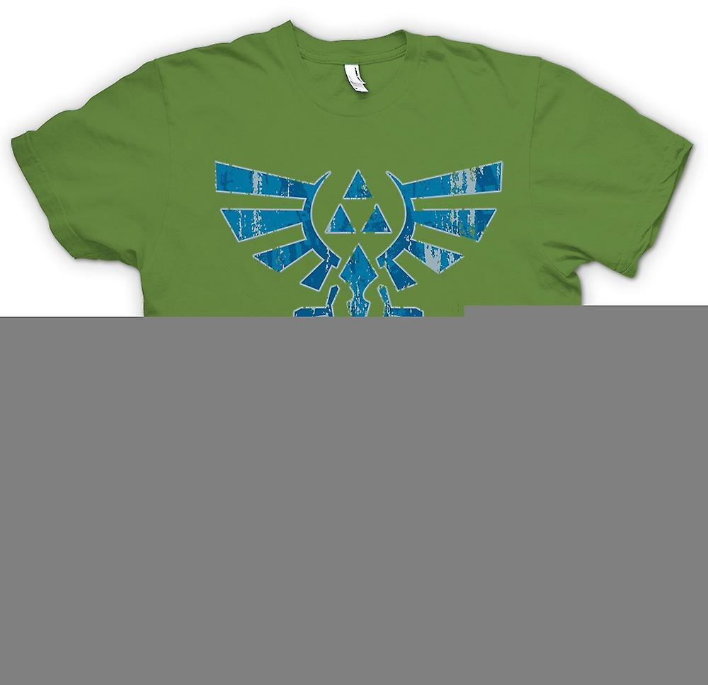 Herr T-shirt-Legend Of Zelda inspirerade - Triforce - spel inspirerat
