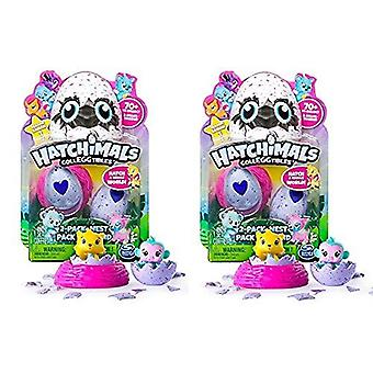 Hatchimals Colleggtibles Series 1 Bundle 2 Pack And Nest Set Of 2 Packs