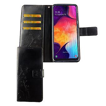 Samsung Galaxy A50 Phone Case Protective Case Cover Flip Case Card Tray Black