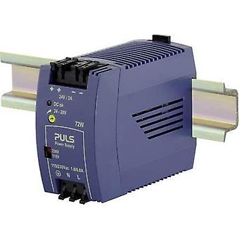 PULS MiniLine ML70.100 Rail mounted PSU (DIN) 24 Vdc 3 A 72 W 1 x