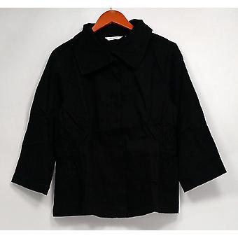 Liz Claiborne New York Women's Basic Jacket Stretch Twill Black A234741