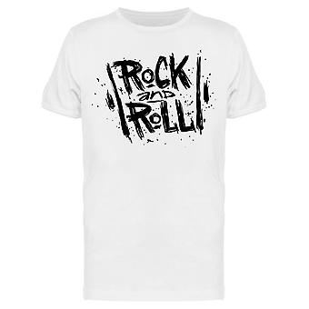 Hand Drawn Rock And Roll Tee Men's -Image by Shutterstock