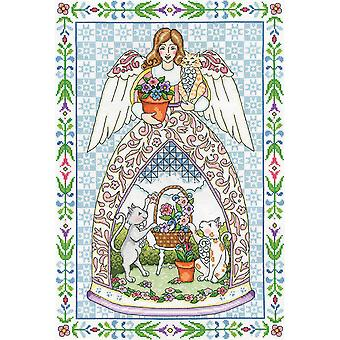 Kitty Angel Counted Cross Stitch Kit-14