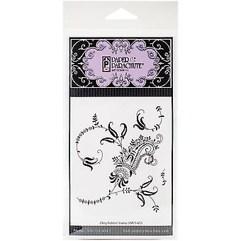 Paper Parachute Cling Rubber Stamps 3.5