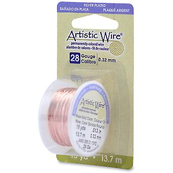 Permanently Colored Copper Wire 28 Gauge 15 Yards Rose Gold 28Awg 21