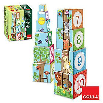 Goula Stackable Cubes Forest (Toys , Preschool , Babies , Stackable Toys)