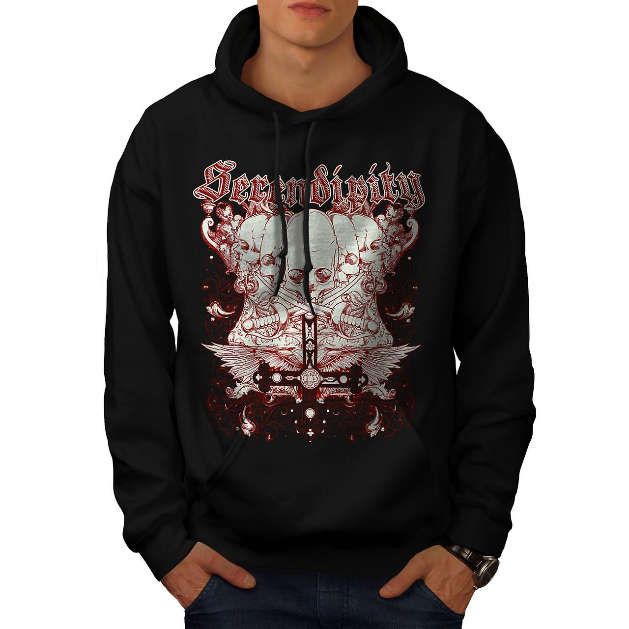 Serendipity Tombstone Grave Yard Men Black Hoodie | Wellcoda