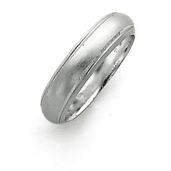Sterling sølv 5mm Satin Finish Band Ring - ringstørrelse: 4-12