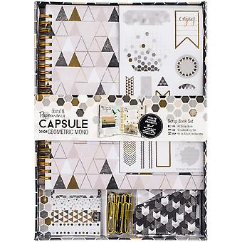 Papermania Geometric Mono Spiral Scrapbook Kit- PM105352