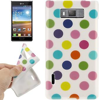 Protective case TPU points of case for mobile LG Optimus L7 / white/colored E705