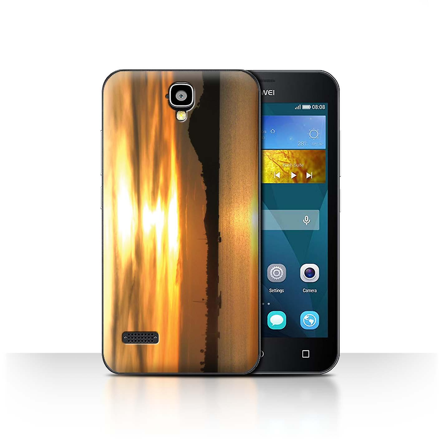 Stuff4 housse pour huawei y5 y560 yachts sunset paysages for Housse huawei y5 ii