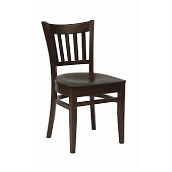 Aly Wood Dining Chair Walnut Frame And Seat Fully Assembled