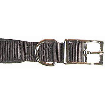 Protección suave clásico Collar acolchado de Nylon negro 20 x 3/4