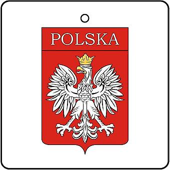 Poland Coat Of Arms Car Air Freshener