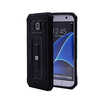 32. schwer Defender Case für Samsung Galaxy S7 Rand (SM-G935) - schwarz