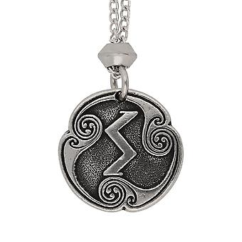 Handmade Norse Viking Sigel Sowilo Rune of the Sun Pewter Pendant ~ 18+4 inch extender Chain