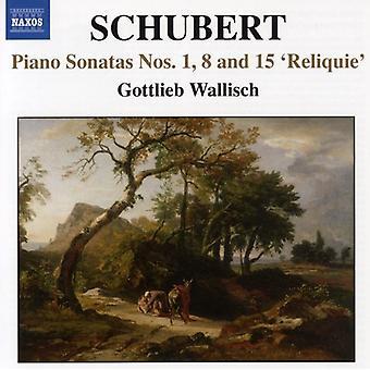 F. Schubert - Schubert: Piano Sonatas nr. 1, 8 & 15 'Reliquie