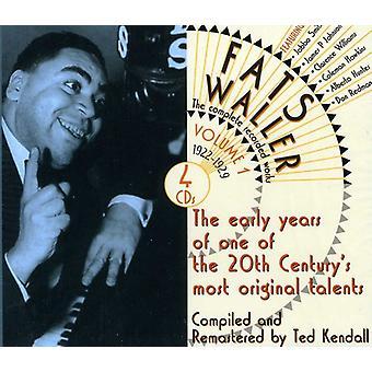 Fats Waller - Fats Waller: Vol. 1-komplet indspillet værker [CD] USA import