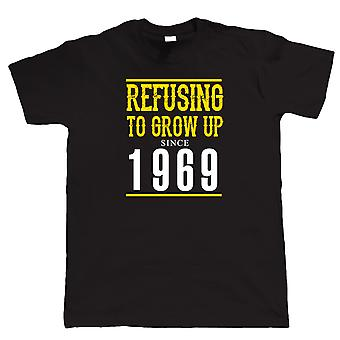 Vectorbomb, Refusing To Grow Up Since 1969 Mens Funny T Shirt  (S to 5XL)