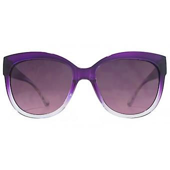 Miss KG Glam Plastic Sunglasses In Purple To Clear Gradient