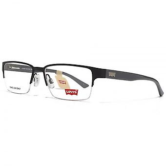 Levis Half Rim Rectangle Glasses In Black