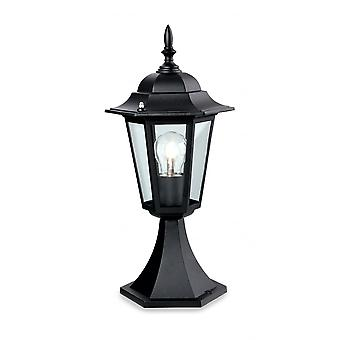 Firstlight Traditional 6 Panel Black Outdoor Lantern