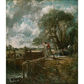 John Constable - Sketch for A Boat Passing a Lock Poster Print Giclee