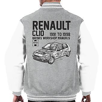 Haynes Besitzer Werkstatt Handbuch Renault Clio schwarz Varsity Jacke Herren