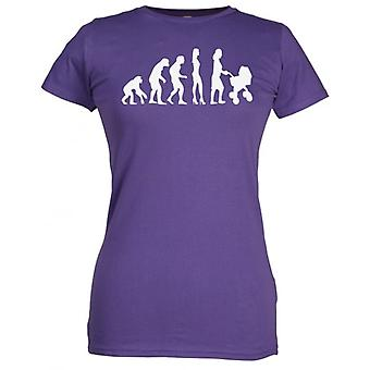 Spoilt Rotten Evolution To A Mum Women's T-Shirt Purple (12-14)