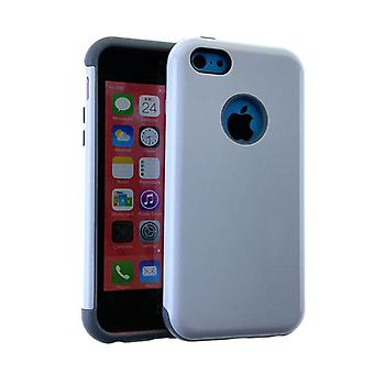 MYVI Series Slim Hybrid Protector Case for Apple iPhone 5 / 5S (Grey Skin and Wh