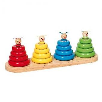 Goki Worm stacks, colours and shapes sorting game