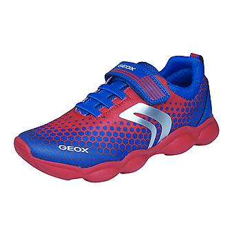 Geox J Munfrey B.D Boys Trainers / Shoes - Red and Blue