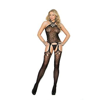 Elegant Moment EM-1307 Crochet suspender bodystocking