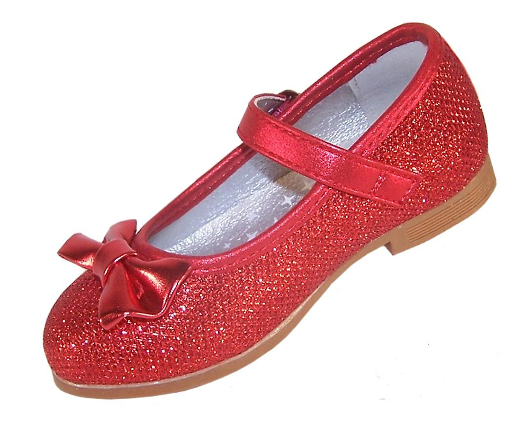 Infant Girls Red Sparkly Ballerina Party Shoes Fruugo