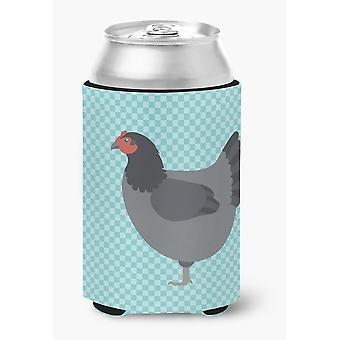 Jersey Giant Chicken Blue Check Can or Bottle Hugger