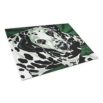Emerald Beauty Dalmatian Glass Cutting Board Large