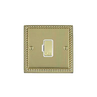 Hamilton Litestat Cheriton Georgian Polished Brass 1g 13A Fuse Only PB/WH