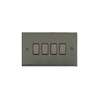 Hamilton Litestat Cheriton Victorian Black Nickel 4g 250W M-Way Touch Mast BK/BL
